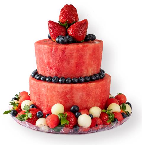 2-Tiers Melon Cake