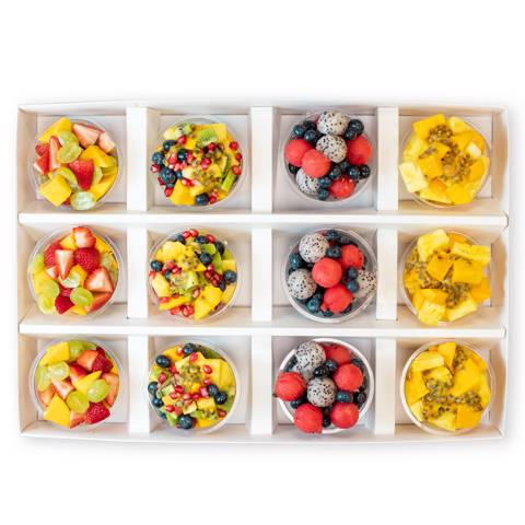 Premium Fruit Cup Selection - Box of 12