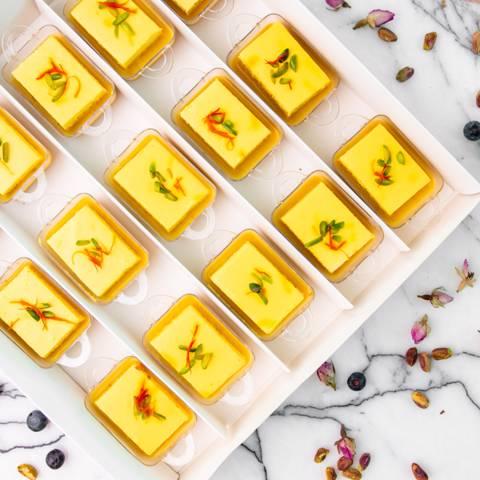 Keto Saffron Almond Milk Cake Box