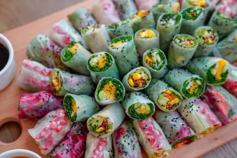 لفائف الأرز بالخضروات - متوسط