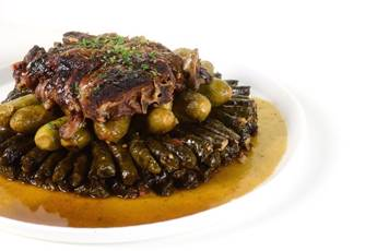 Grape Leaves with Lamb Necks