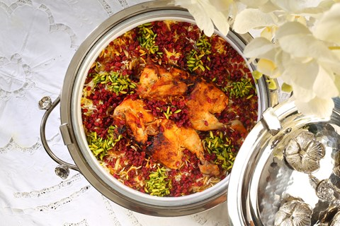 Zereshk Chicken Machboos
